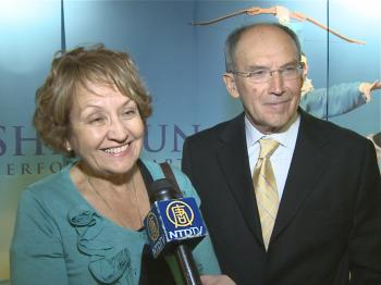 Ms. Gambetta and her husband, Miguel, at Shen Yun Performing Arts in Chicago. (Courtesy of NTD Television)